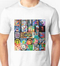Modern Hebrew Alephbet  Unisex T-Shirt