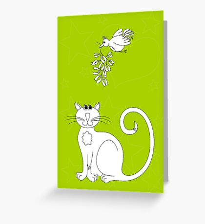 Love at Christmas to colour in Greeting Card