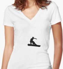 snowboard : shadowstance Women's Fitted V-Neck T-Shirt