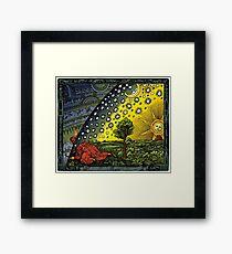 Die Flammarion-Gravur, handkoloriert Gerahmtes Wandbild