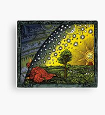 The Flammarion engraving, hand coloured Canvas Print