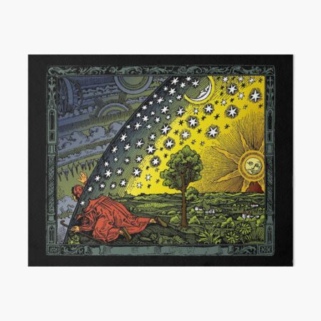 The Flammarion engraving, hand coloured Art Board Print