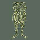 The many names of Jason Funderburker - OTGW inspired typography design by bubivisualarts