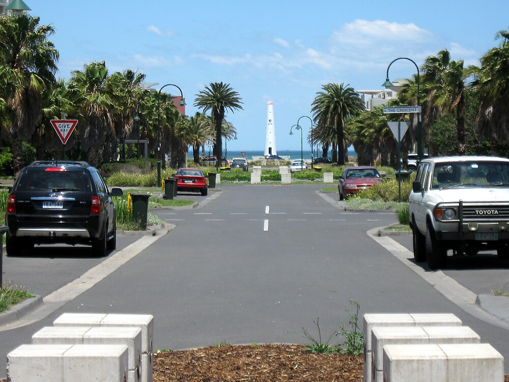 Port Melbourne Front Lighthouse by Lee Revell