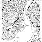 Montreal Karte Minimal von HubertRoguski