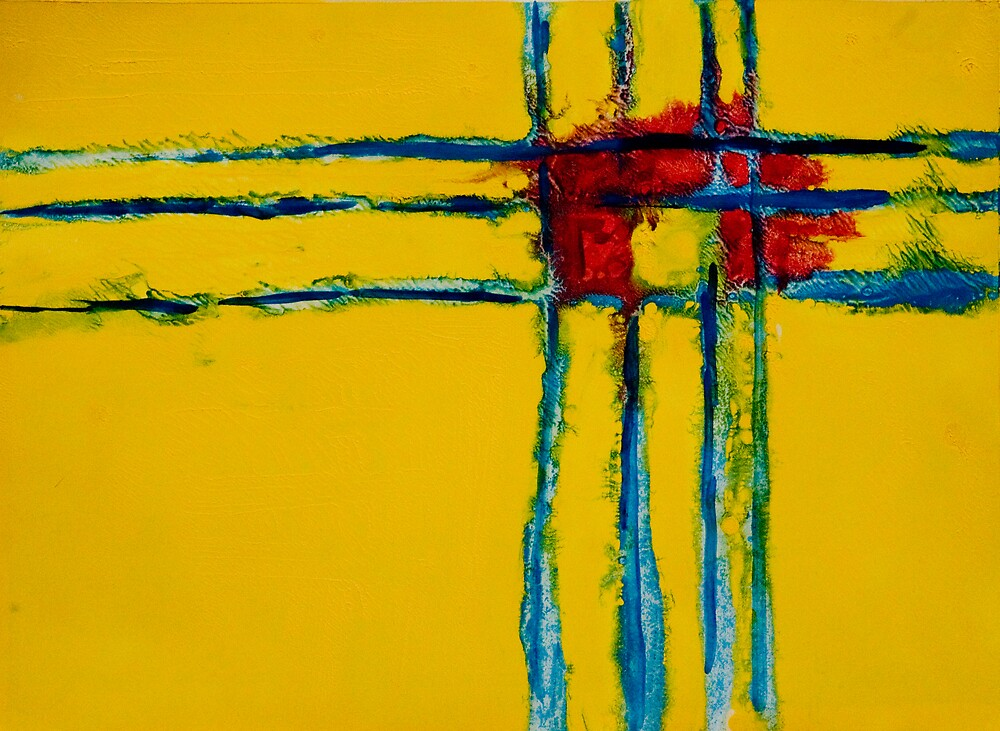 Yellow Grid #43 by John Toxey