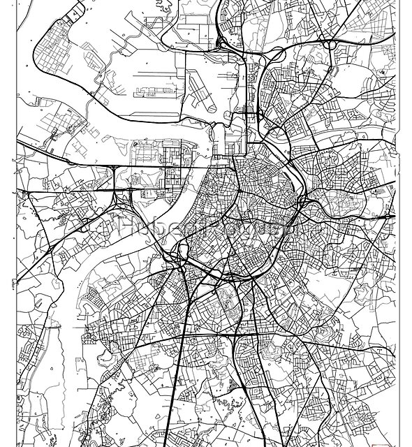 Antwerp Map Minimal by HubertRoguski