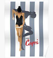 Visit Capri, Travel Poster Poster