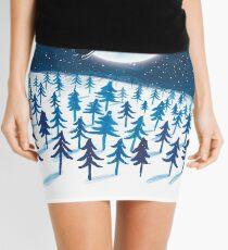 Blue Christmas Mini Skirt