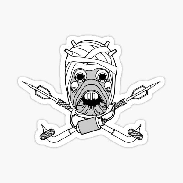 Tusken Raider Cross Bones Sticker