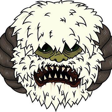 Angry Wampa by GlewPrint