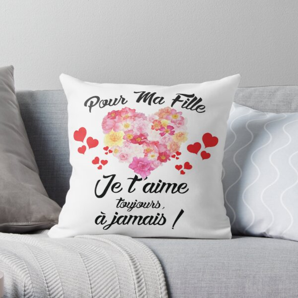 Gift for my daughter (I love you) Throw Pillow