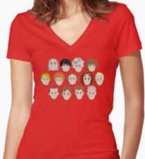 Guess Who! Women's Fitted V-Neck T-Shirt