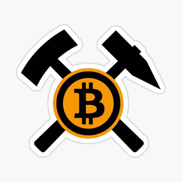 Bitcoin Crypto Miner Sticker