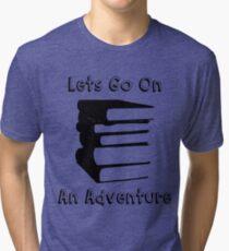 Bookworm Reading Lover Design Tri-blend T-Shirt