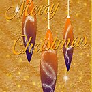Christmas Card with Ornaments  by TLCGraphics