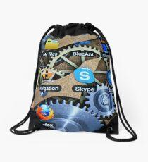 Clockwork smartphone Drawstring Bag