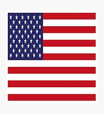 USA Flag, American Style, Stars And Stripes, Super Resolution Photographic Print