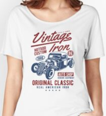 Hot Rod Car Retro Vintage Women's Relaxed Fit T-Shirt