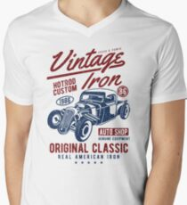 Hot Rod Car Retro Vintage Men's V-Neck T-Shirt