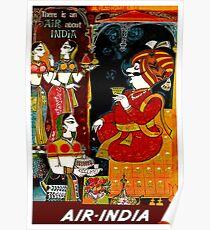AIR INDIA: Vintage Air Travel Advertising Print Poster