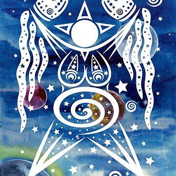 Pagan Art. Sternengöttin mit Wasser und Sternen. von ChristineKrahl