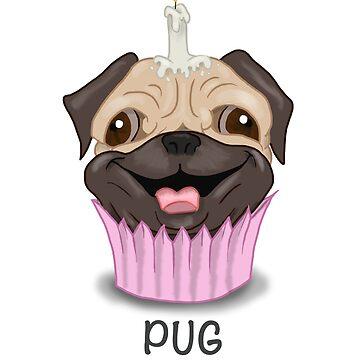 Pug Cake by GroovyGecko
