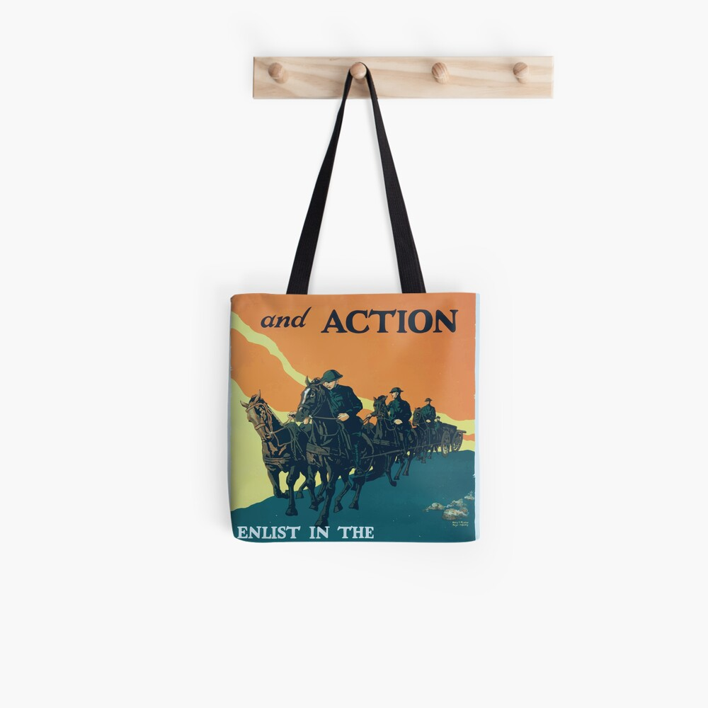 Adventure and action Enlist in the field artillery US Army Stofftasche
