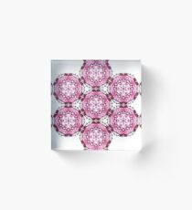 pink psychedelic geometric design Acrylic Block