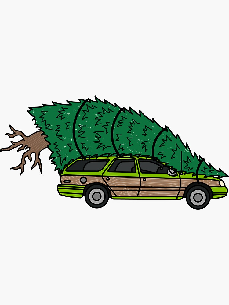 Christmas Vacation Car.Christmas Vacation Sticker