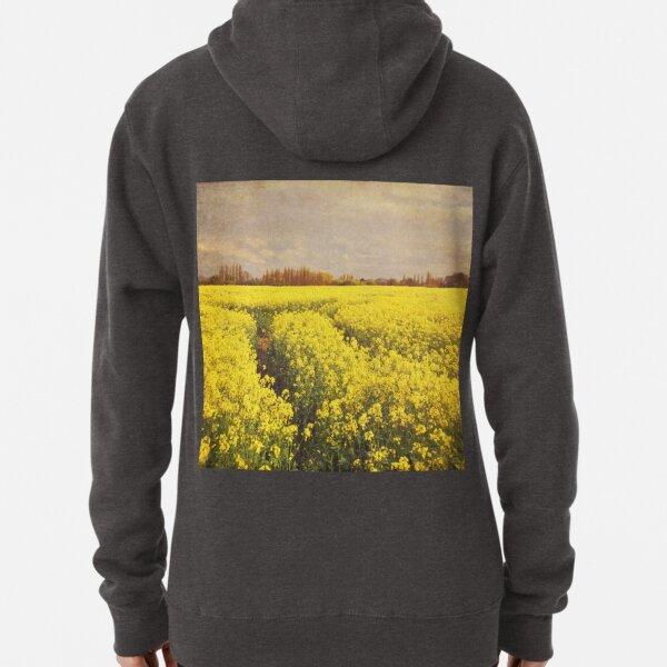 Yellow rapeseed field Pullover Hoodie