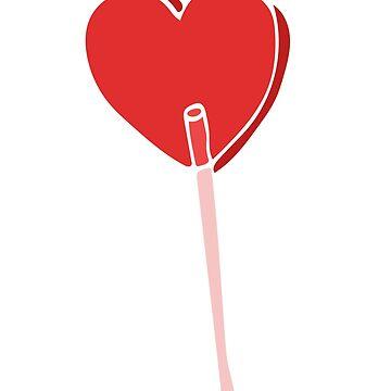 Red Valentine Sucker by Boogiemonst
