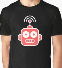 Retro Robot Icon Graphic T-Shirt