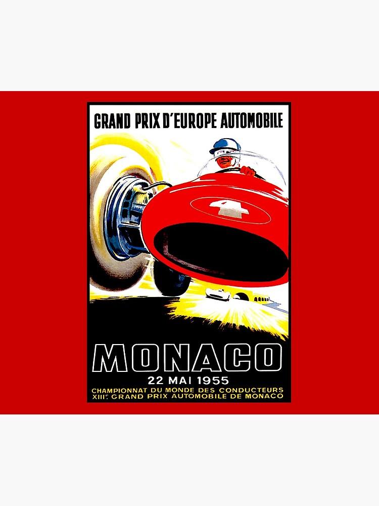 MONACO : Vintage 1955 Grand Prix Auto Racing Advertising Print Print by posterbobs