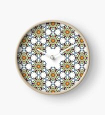 colorfull fractal psychedelic geometric design Clock