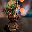 Christmas bell bauble by Sara Sadler