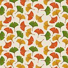 Fall ginkgo leaves pattern by savousepate