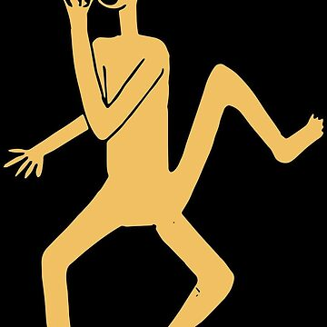 Three legged man behind a mask by lottejulia