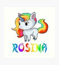 Rosina Unicorn Art Print