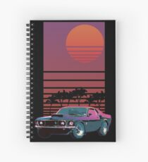 Synthwave Sunset Cahier à spirale