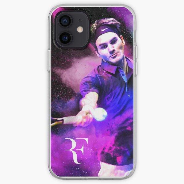 Roger Federer Purple Funda blanda para iPhone