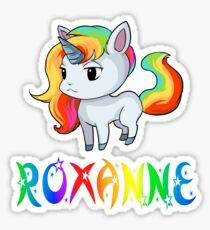 Roxanne Unicorn Sticker