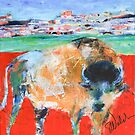 Buffalo in the Badlands by Sharon Welch