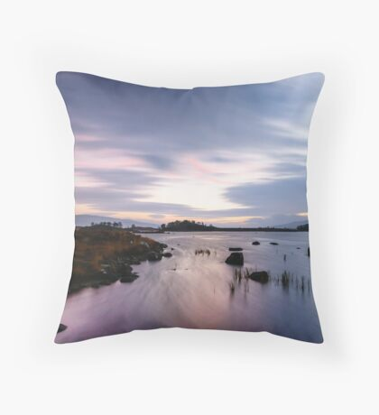 Pink and Purple Dawn Throw Pillow