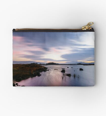 Pink and Purple Dawn Zipper Pouch