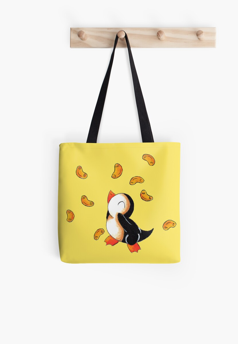 Macaroni Penguin Tote Bags By Kokeefeart Redbubble