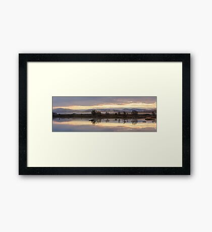 Peach Mist Sunrise on Rannoch Moor Framed Print