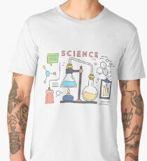 Science Vector Icons Elements Men's Premium T-Shirt