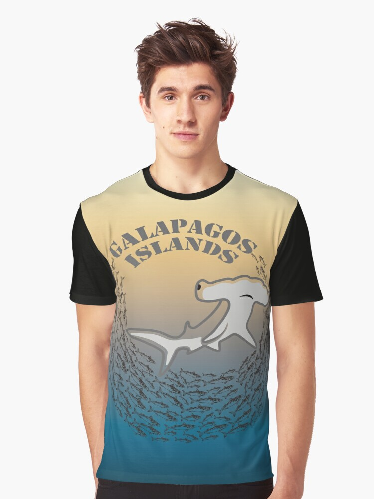 Hammerhead Shark Galapagos Graphic T-Shirt Front