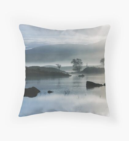 Moody Misty Morning Throw Pillow